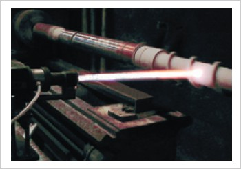 image showing the equipment in action applying hard wearing coatings